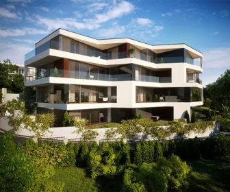 Novostavba Villa City View prodej bytů Praha 5 - Dívčí hrady