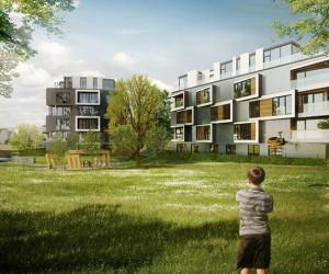 Novostavba Rezidence Dock prodej bytů Praha 8 - Libeň
