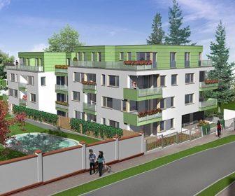 Novostavba Rezidenční vila Višňová prodej bytů Praha 4 - Krč