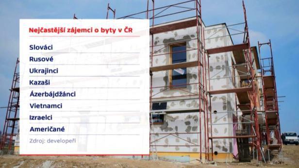 Praha - Až čtvrtinu bytů v ČR si koupí cizinci, a to především z bývalého SSSR