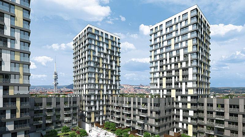 Praha - Stavební boom nových bytů v roce 2015