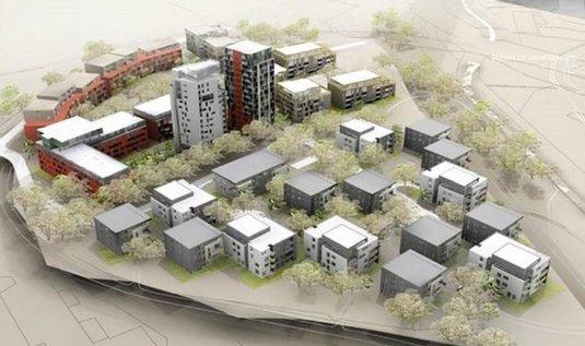 Praha 9 - Pražský developer (YIT Stavo) postaví 900 nových bytů (Suomi Hloubětín) mezi pražskými Vysočany a Hloubětínem.