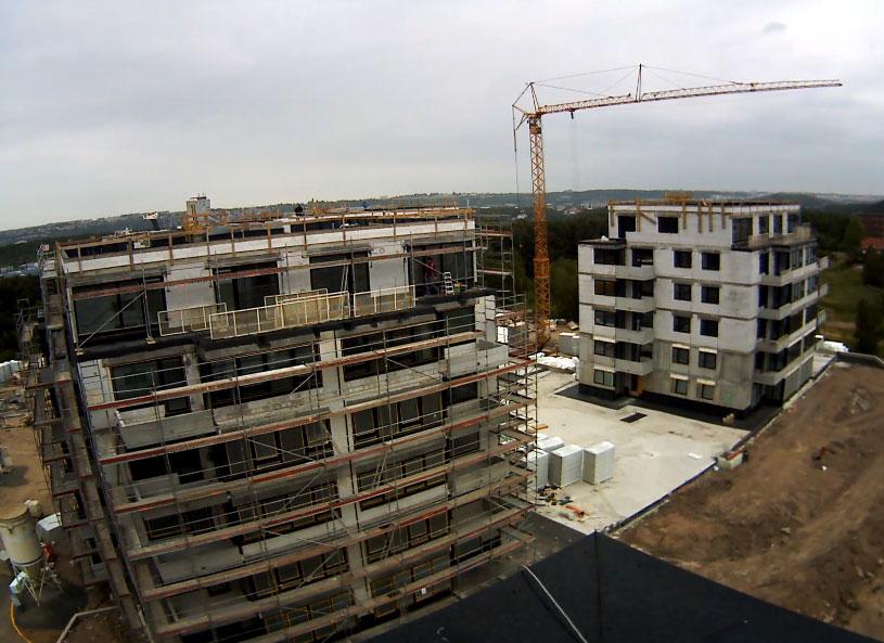 Praha 10 – Ukončení hrubé stavby druhé etapy projektu Ecocity v Malešicích