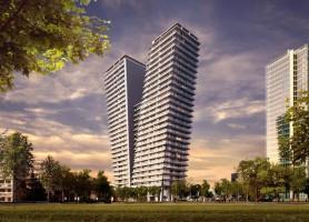 Praha 4 – Na Pankráci roste novostavba V Tower se 130 luxusními novými byty