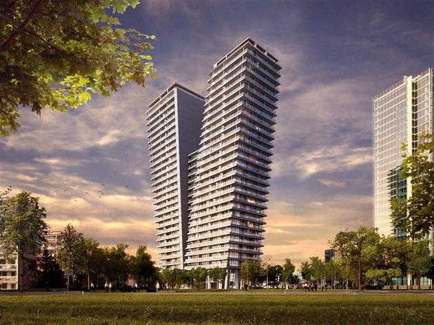 Praha 4 - Na Pankráci roste novostavba V Tower se 130 luxusními novými byty