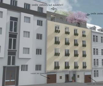 Novostavba Zahrada Grébovky prodej bytů Praha 10 - Vršovice
