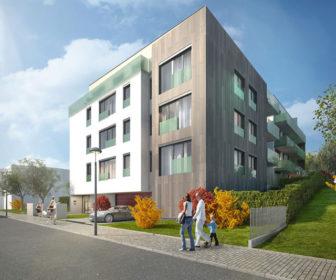 Novostavba Vila Mrštíkova prodej bytů Praha 10 - Strašnice