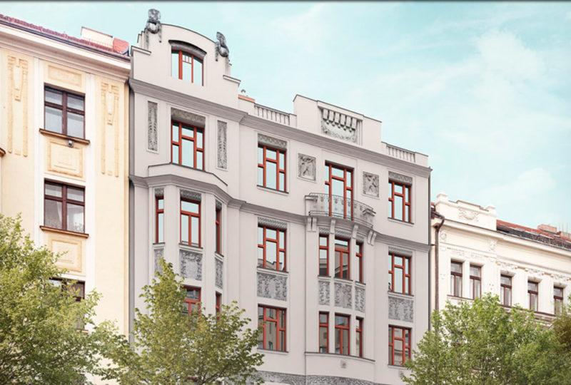 Novostavba Rezidence U Dvou Sov prodej bytů Praha 6 - Bubeneč