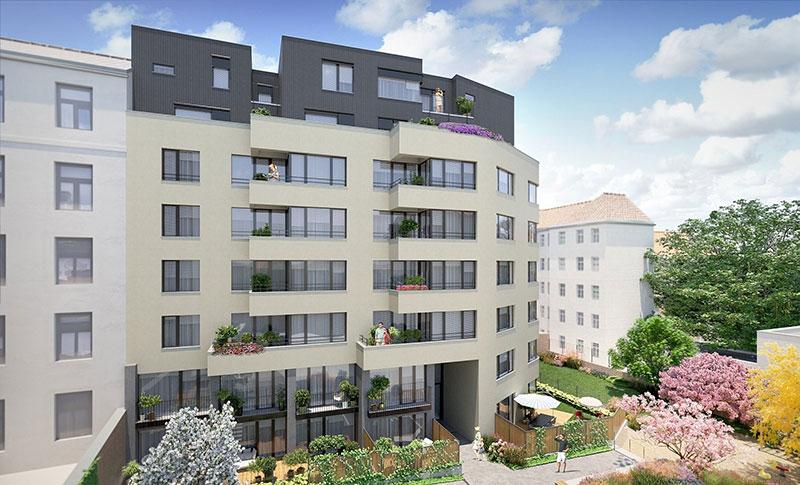 Novostavba Villa Apus prodej bytů Praha 1 - Nové Město