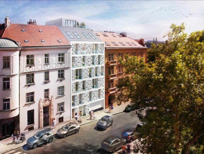 Novostavba Byty Bieblova prodej bytů Praha 5 - Smíchov