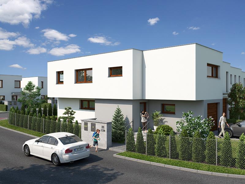 Novostavba Domy Jahodnice (Holenská) prodej bytů Praha 9 - Hostavice