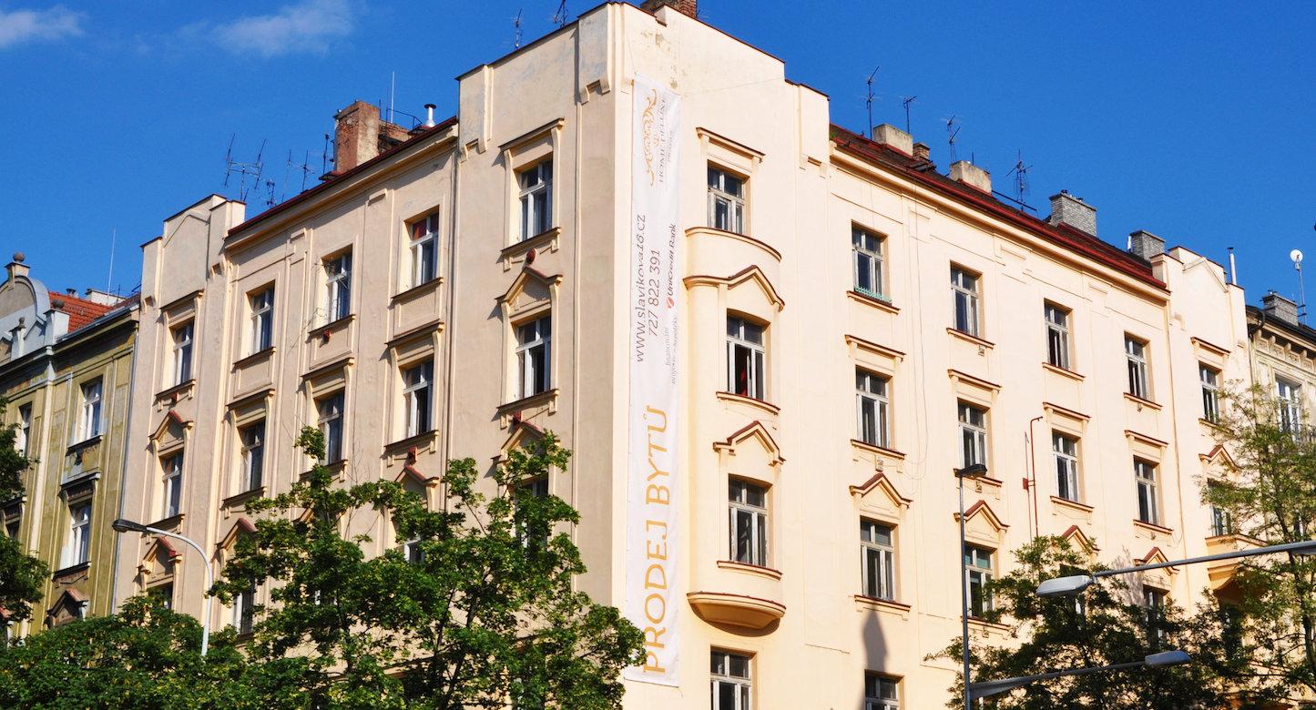 Novostavba Rezidence Slavíkova prodej bytů Praha 2 - Vinohrady