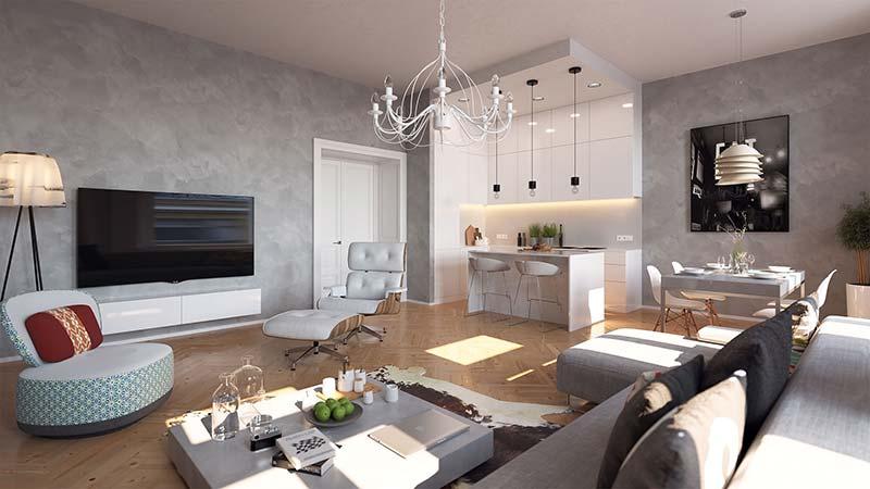 Novostavba White Garden II prodej bytů Praha 5 - Smíchov
