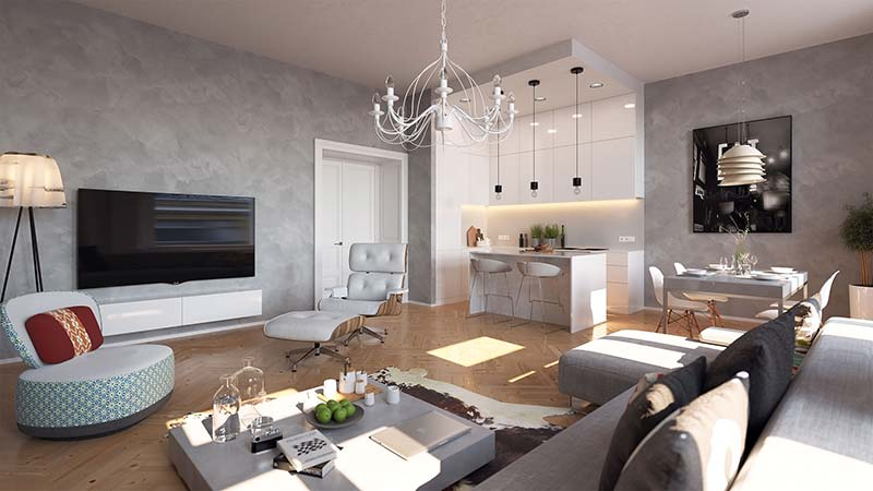 Novostavba White Garden prodej bytů Praha 5 - Smíchov