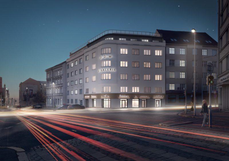 Novostavba Dům U Galerie prodej bytů Praha 9 - Vysočany