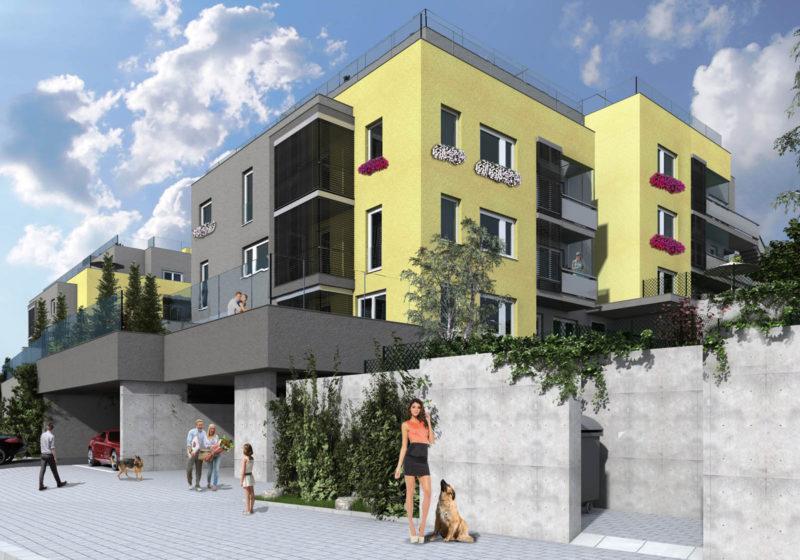 Novostavba Michelské Zahrady prodej bytů Praha 4 - Michle