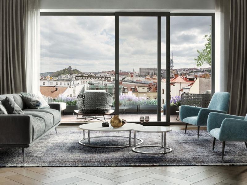 Novostavba Palác Dlážděná prodej bytů Praha 1 - Nové Město