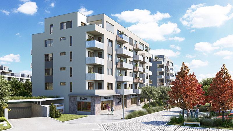 Novostavba Suomi Hloubětín prodej bytů Praha 9 - Hloubětín
