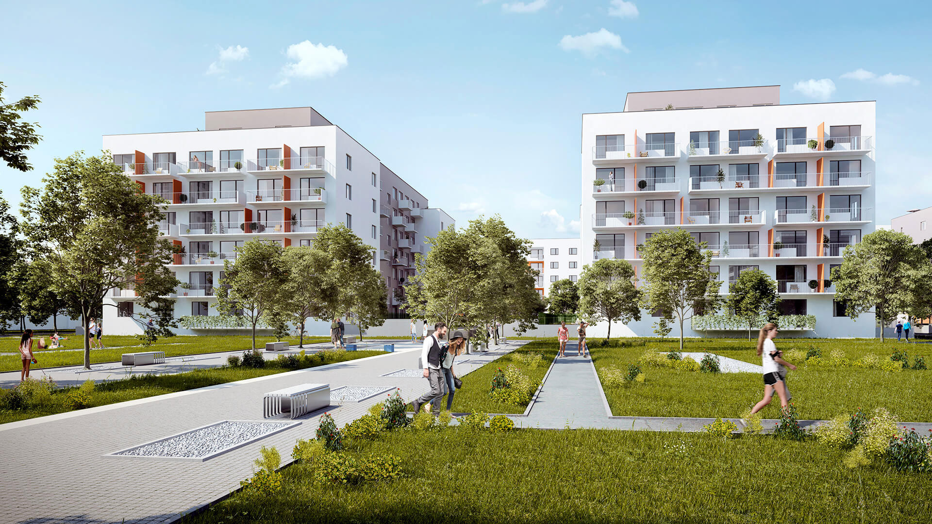 Novostavba Tulipa City II prodej bytů Praha 9 - Vysočany