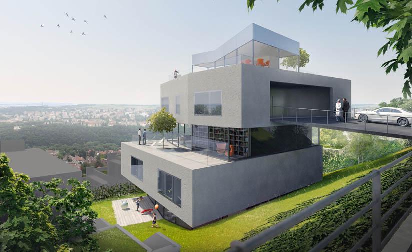 Novostavba Terasy Na Hřebenkách prodej bytů Praha 5 - Smíchov