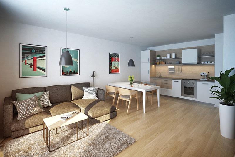 Novostavba Chytré bydlení NMN@Holešovice prodej bytů Praha 7 - Holešovice