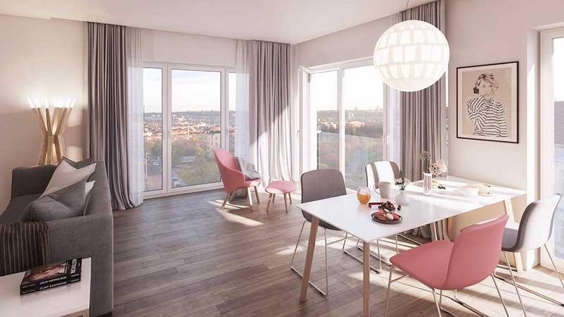Novostavba Rezidenční projekt Bullovka prodej bytů Praha 8 - Libeň