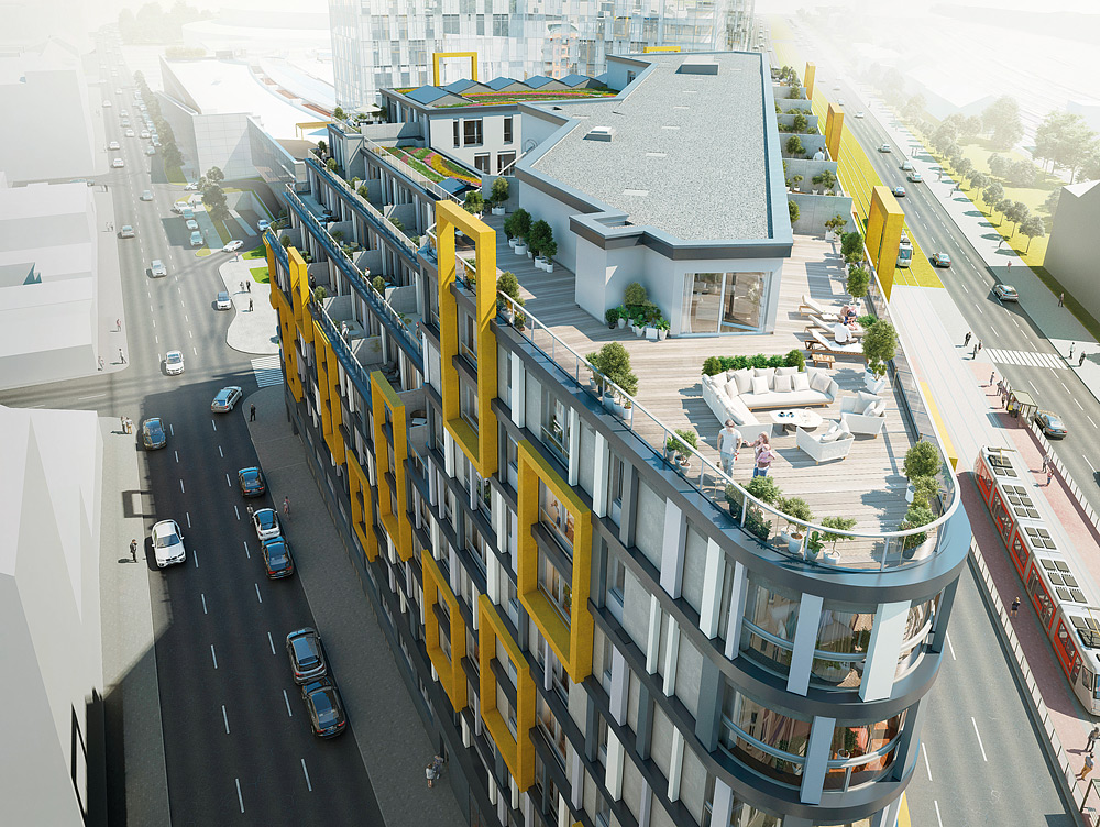 Novostavba Harfa Design Residence prodej bytů Praha 9 - Libeň
