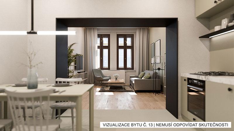 Novostavba Rezidence U Náplavky prodej bytů Praha 5 - Smíchov