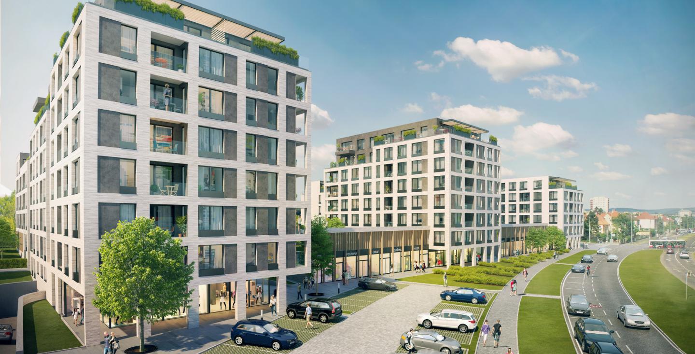 Novostavba Green Port Strašnice prodej bytů Praha 10 - Strašnice