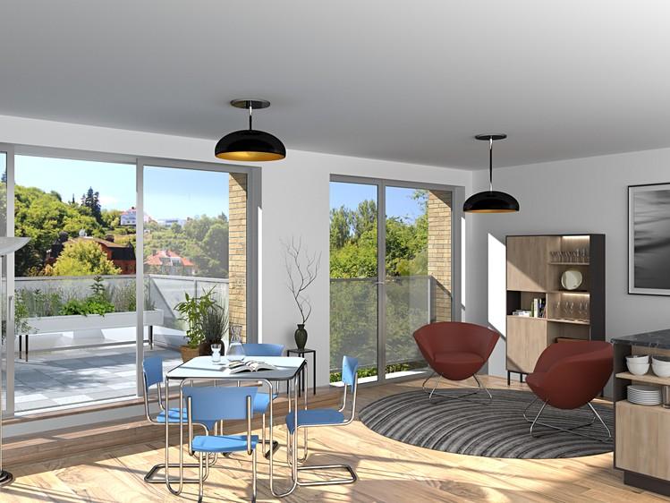 V Košířích vyrostou nové luxusní byty