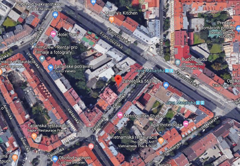 Novostavba Terasa Lavande prodej bytů Praha 2 - Vinohrady