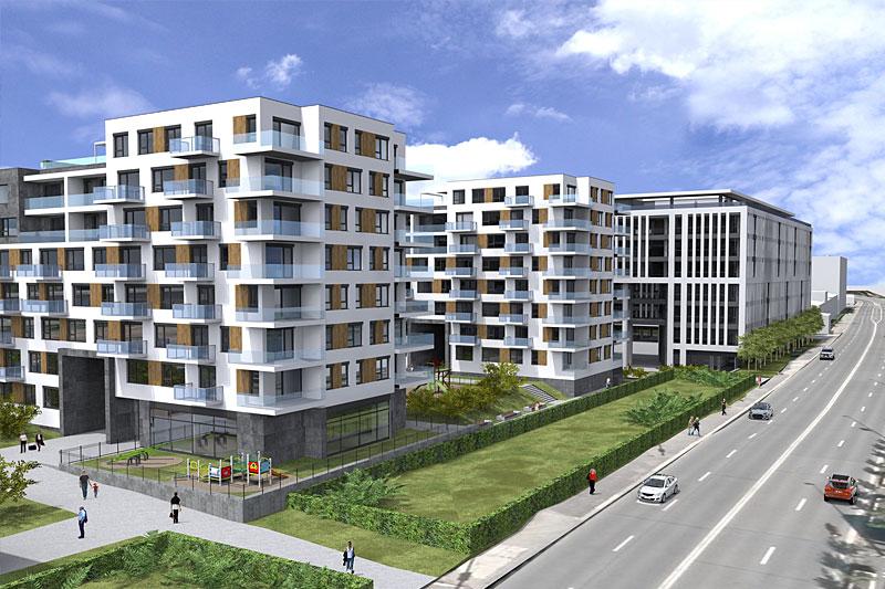 Novostavba Bydlení u Císařské louky prodej bytů Praha 5 - Smíchov