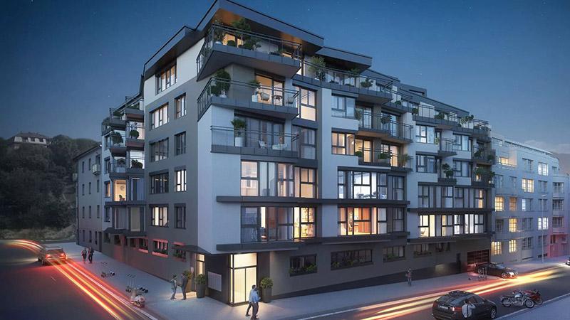 Novostavba Rezidence V Zahradách prodej bytů Praha 8 - Libeň
