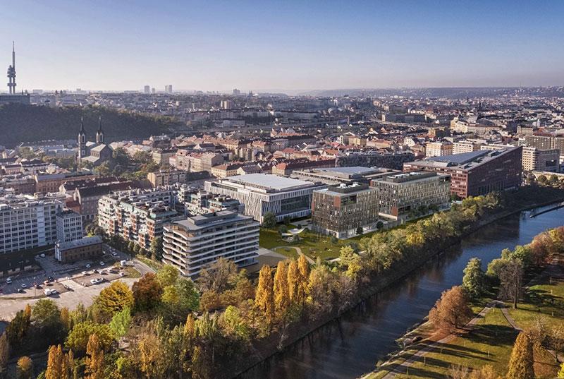 Novostavba River City Praha prodej bytů Praha 8 - Karlín