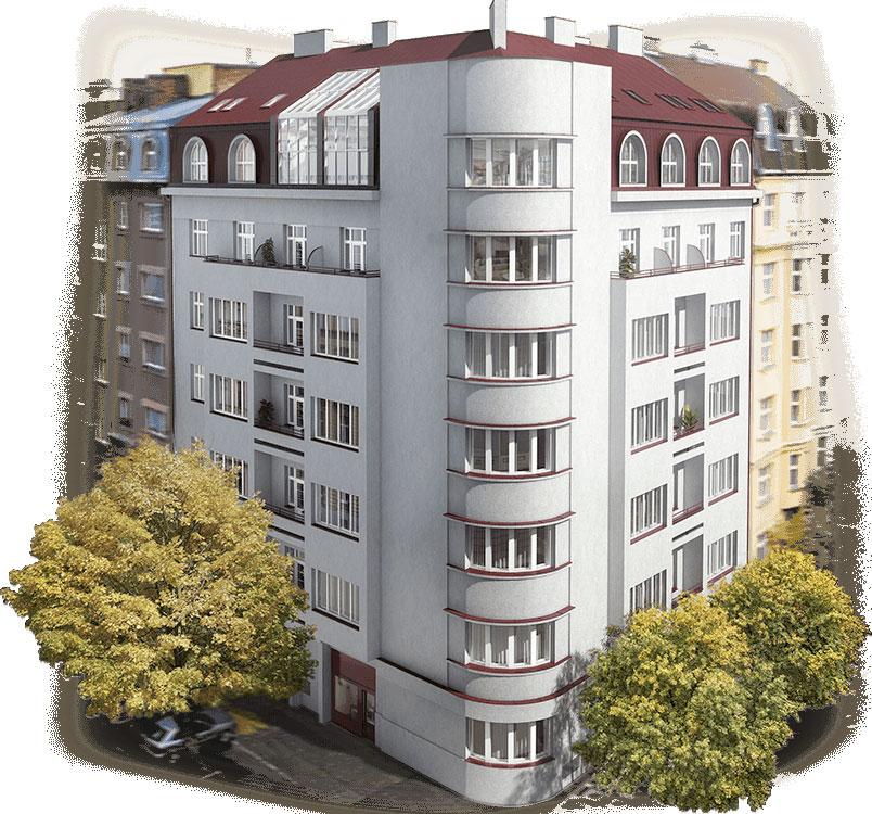 Novostavba Lucemburská 16 prodej bytů Praha 3 - Vinohrady