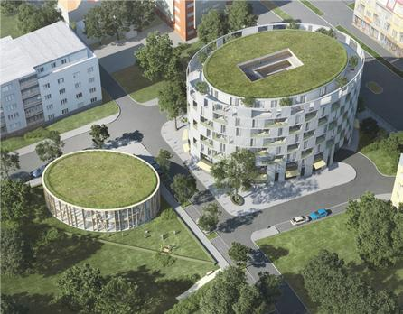 Novostavba Rezidence OLIVA prodej bytů Praha 4 - Michle