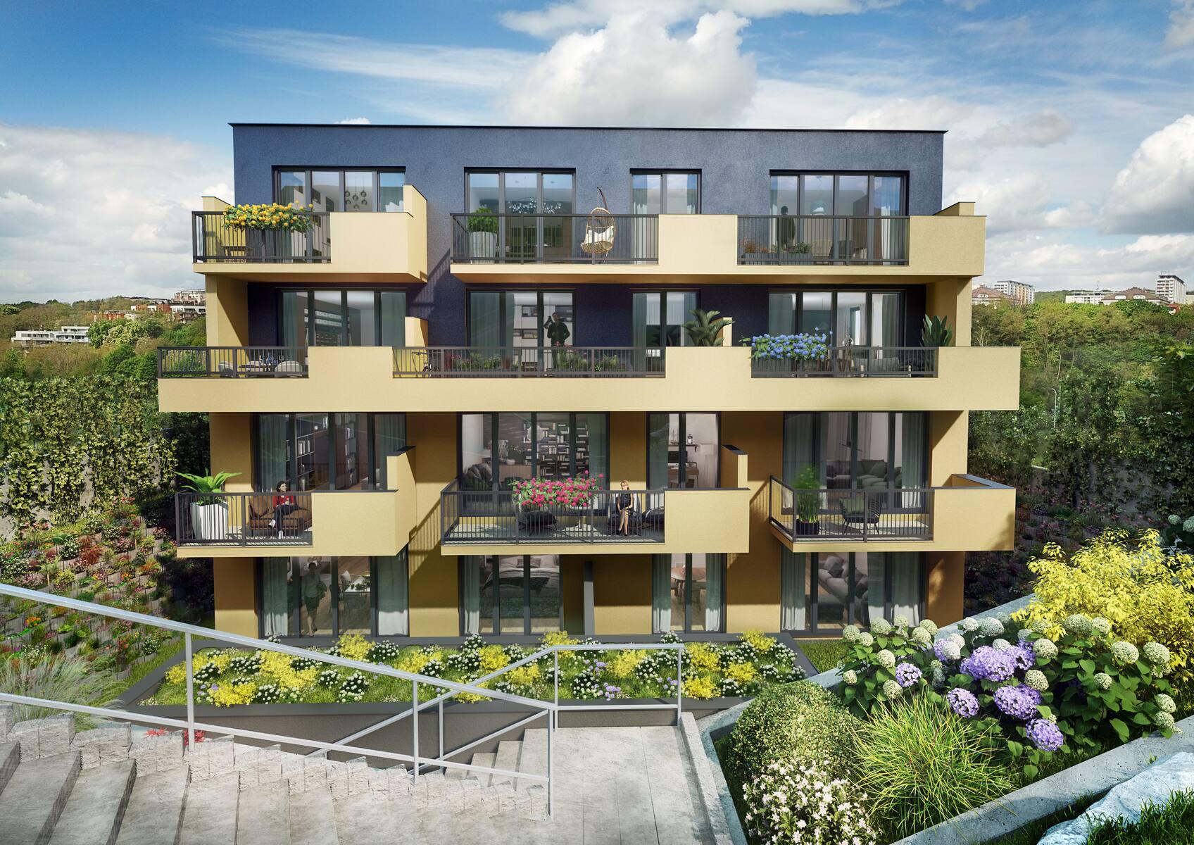Novostavba Villa Střížkovská prodej bytů Praha 8 - Libeň