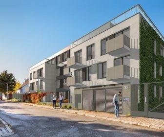 Novostavba Villa Pod Menhirem prodej bytů Praha 8 - Dolní Chabry